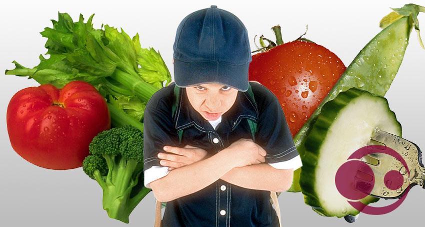Kinder und Gemüse