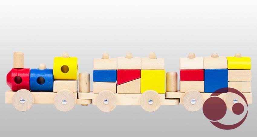 Buntes Holzspielzeug