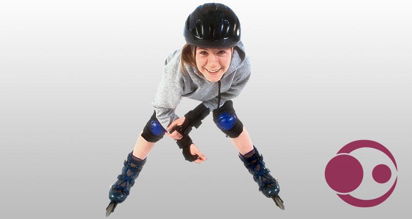Kind auf Inline-Skates