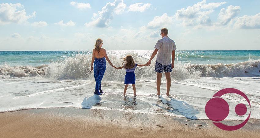 Familien-Urlaub am Strand